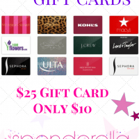$25 Gift Card for $10 – Walmart, Kmart, Sears, Sephora, McDonalds & More!