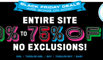 The Children's Place – Black Friday Sale 50-75% Off Entire Site!