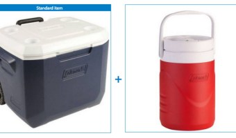 Coleman Xtreme 50 Quart Wheeled Cooler & 1 Gallon Jug $25 ($37 Value)