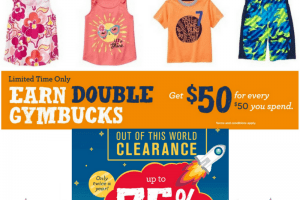 Gymboree – Up to 75% Off – Backpacks, Lunchboxes, PJ's and more!!