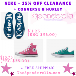 Nike, Converse & Hurley – Extra 25% Off Clearance