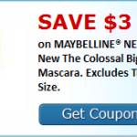 High Value $3/1 Maybelline New York Mascara Coupon