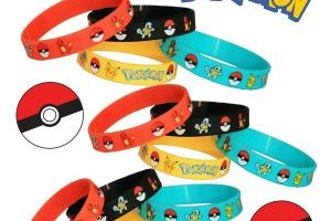 12 Count Pokemon Silicone Wristband Bracelet Party Favors $3.68 Shipped (Regular $24.99)