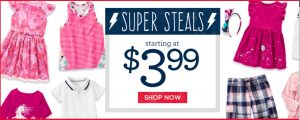 Gymboree Tees, Polo Shirts, Tanks & More $3.99 (Regular $9.95 – $22.95)
