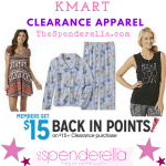 Kmart $15 back in Points when you Spend $15 in Clearance Apparel