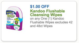 $1/1 Kandoo Wipes Coupon + Score at Target for $.89