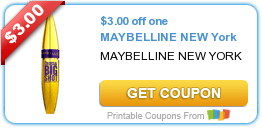 Two Maybelline New York, $.75/1 Ken's Dressing & More Coupons