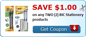 $1/2 BIC Stationery Coupon
