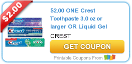 $2/1 Crest Toothpaste, $3/1 OxiClean Laundry Detergent & More Coupons
