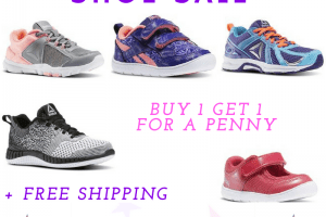 Reebok Kids Shoe Sale – Buy 1 Get 1 for PENNY + FREE Shipping – Starting at $12.50 each