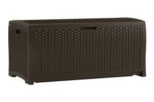 Suncast Mocha Wicker Resin Deck Box, 73-Gallon $67.59 (Regular $129.99)