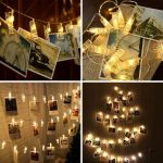 20 LED Photo Clips Fairy String Lights for Hanging Photos & Greeting Cards- Perfect for Holiday Cards $9.99