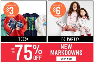 Crazy 8 – Up to 75% Off the Entire Store + Extra 20% Off Entire Purchase Promo Code