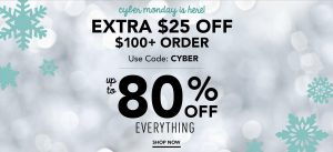 Gymboree Cyber Monday Sale – $25 Off $100 Promo Code + Clearance items from $1.49 + FREE Shipping