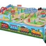 Train Table with 62 pieces including Wooden Train Set $46.50 (Regular $139.99)