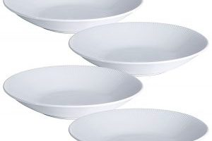 Set of 4 White Porcelain Pasta/Salad Bowls $13.49 Shipped (Regular $26.99)