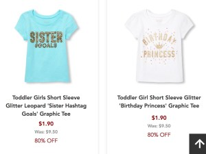 I Personally Love When The Childrens Place Has This Sale Because Load Up In Clothes All Sizes For Next Year Girls
