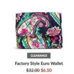 Vera Bradley Outlet – Extra 30% Off + FREE Shipping = Wallets as low as $4.55 Shipped!