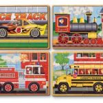 Melissa & Doug Vehicles 4-in-1 Wooden Jigsaw Puzzles $6.00 (Regular $11.99)