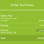 Hello Fresh – $20 for a Box of Food ($60 Value) after $40 Promo Code