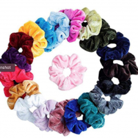 20 Girls Velvet Elastic Ponytail Scrunchies Hair Tie Holders $4.23 Shipped!