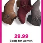 Kohl's Women Boots $16.99 Each