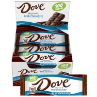 18 Count Dove Milk Chocolate Candy Bars $4.50 = $.25 per bar!