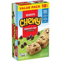 Pack of 18 Quaker Chewy Granola Chocolate Chip Bars $2.98 = $.17 per bar