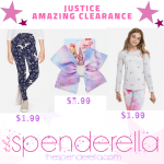 Justice Extra 50% off Clearance = Leggings, Tees and more from $1.99 each!