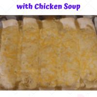 Green Chile Chicken Enchiladas with Chicken Soup