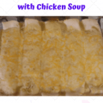 Green Chile Chicken Enchiladas with Chicken Soup