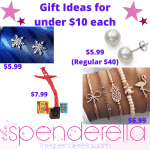 Gift Ideas for under $10 each – Pearl Earrings, Wacky Inflatable Mini, 5 Piece Bracelet