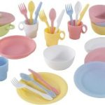 KidKraft 27-Piece Pastel Cookware Set, Plastic Dishes and Utensils for Play Kitchens$5.99 (Regular $14.99)