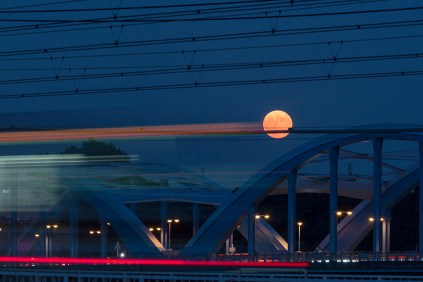 trains and the moon