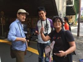YT, Hideyuki and Candy.