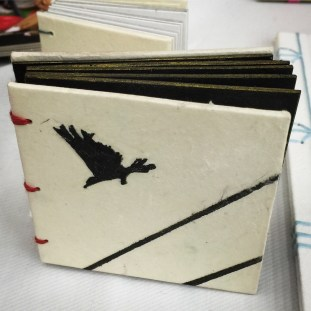 Crows. Embossed cover.