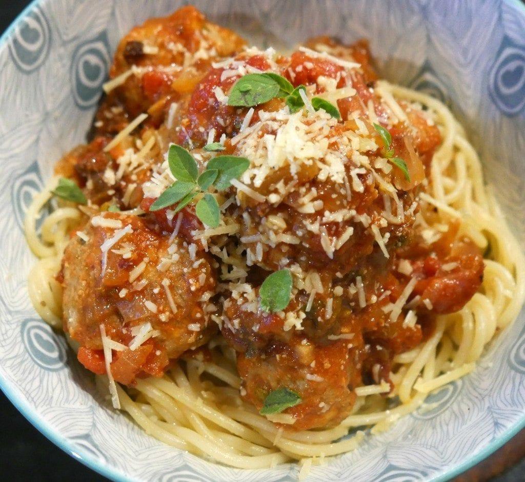 pork spaghetti meatballs