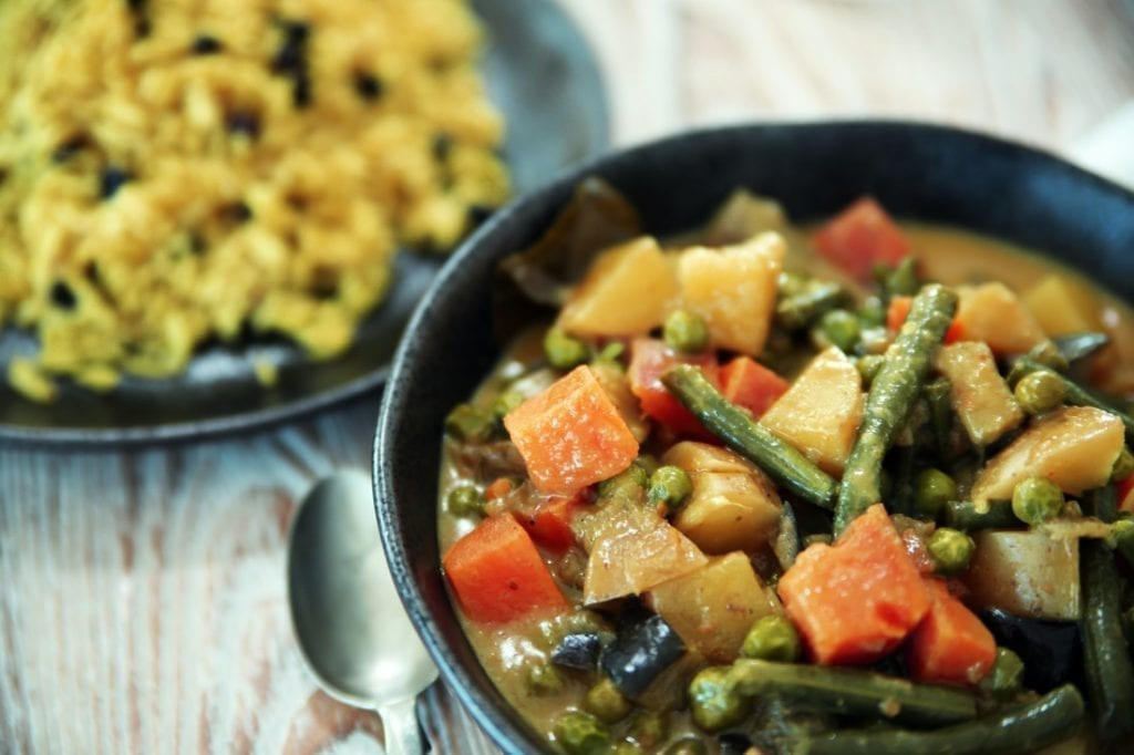 thai yellow vegetarian curry