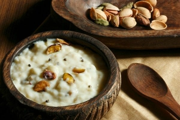 rice kheer and indian variation of english rice pudding