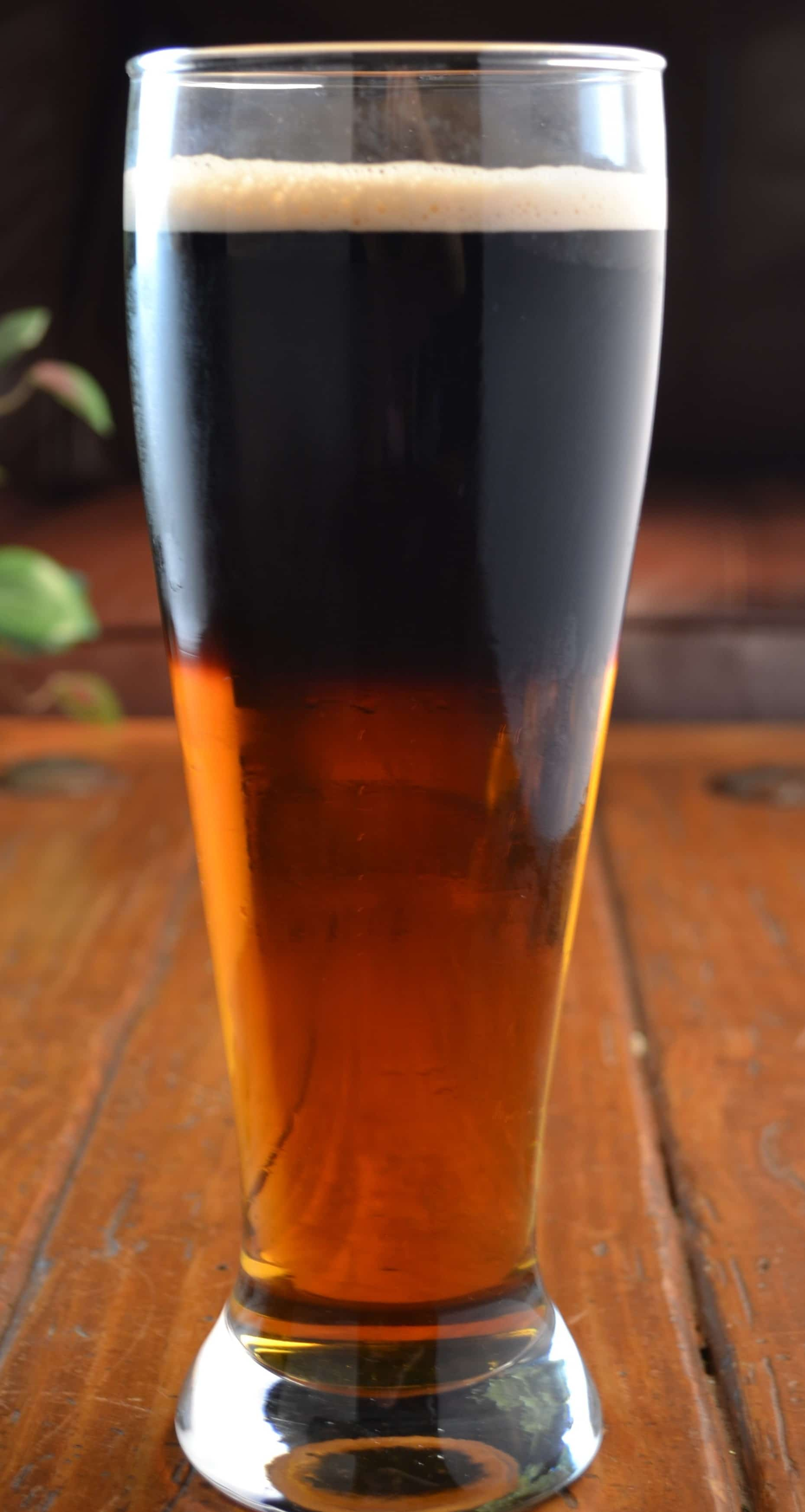 A Beautiful Black and Tan Beer  The Spicy Apron
