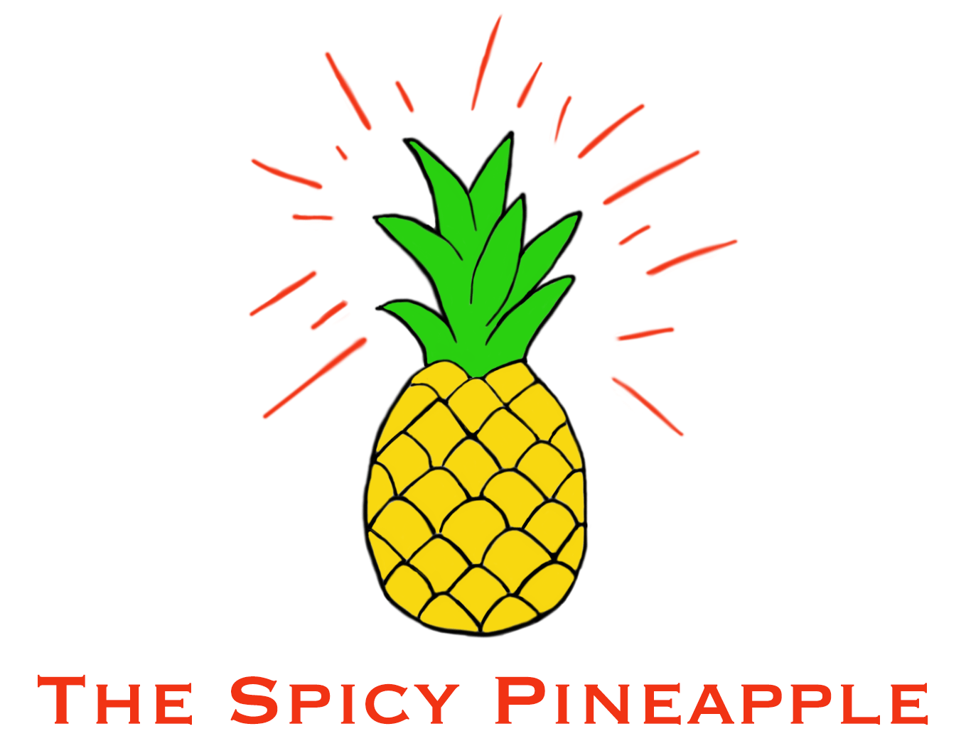 Logo The Spicy Pineapple with text on white
