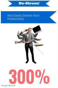 De-Stress! And Easily Elevate Your Productivity 300%