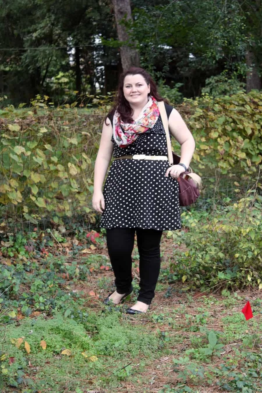how we wore it: polka dots and pattern matching | via The Spirited Violet