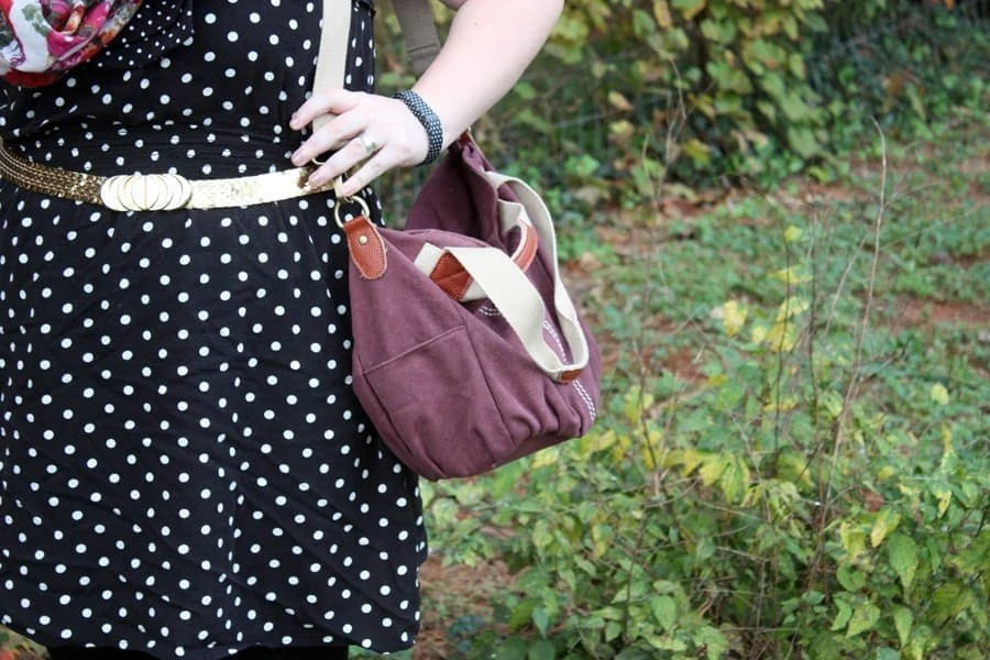 how we wore it: polka dots and pattern matching | via The Spirited Violetmatching | Stay gold Autumn