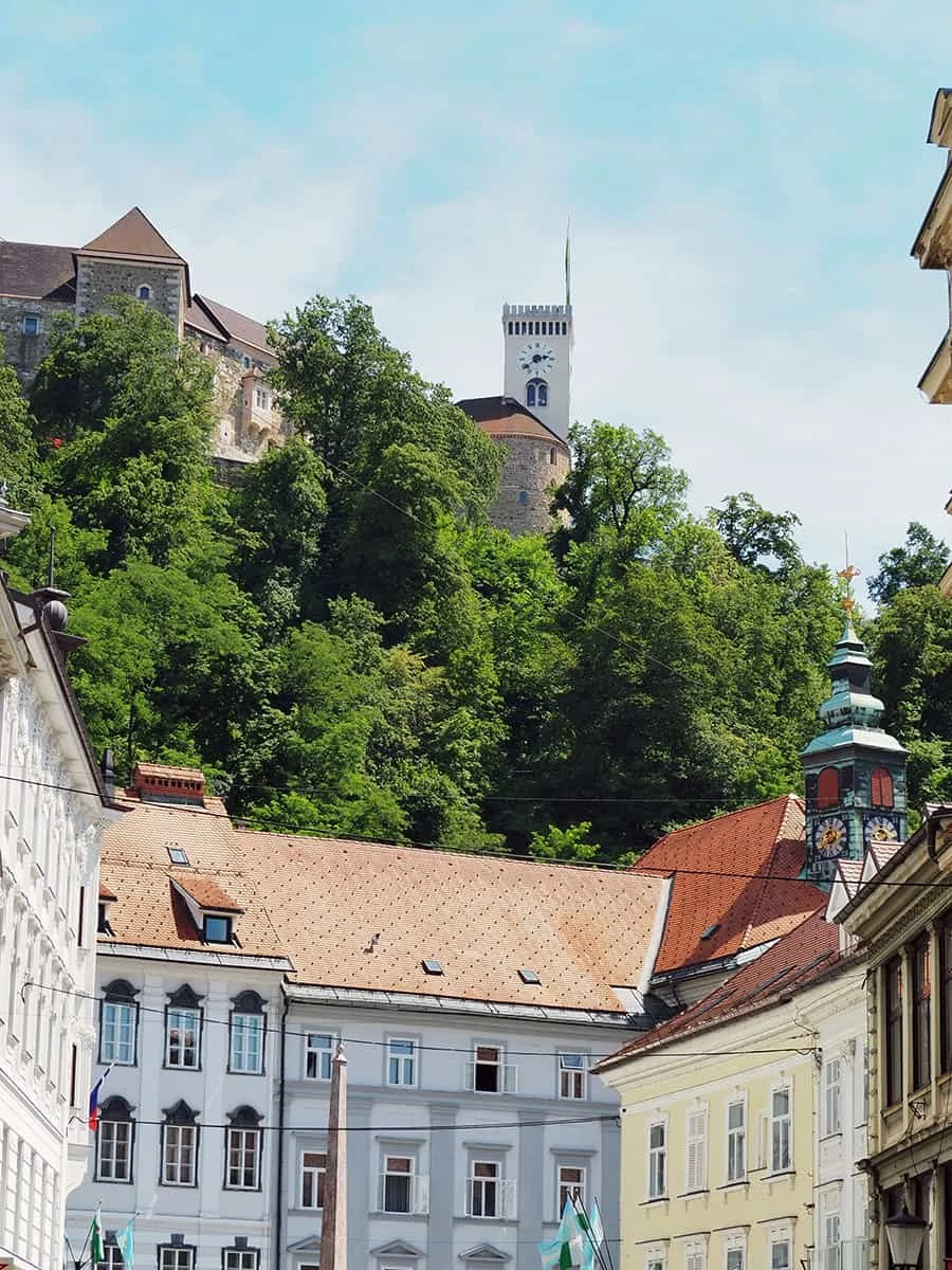 A view of Ljubljana Castle overlooking the capitol city in Slovenia.. | via The Spirited Violet