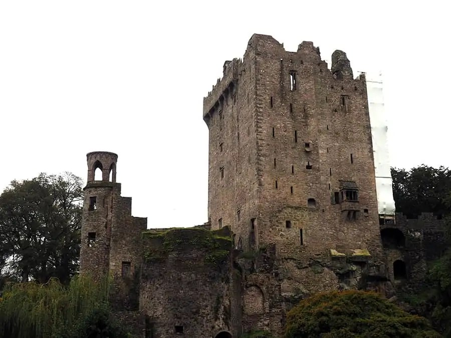 the scene from below for Blarney Castle in Ireland   I didn't kiss the Blarney Stone via The Spirited Violet