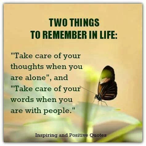 Dos cosas para recordar en la vida