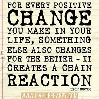 change of reaction