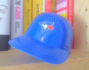 plastic blue jays hat