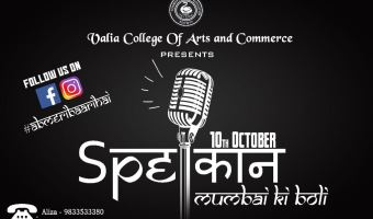 SPEकान – First Open Mic Event By Valia College Of Commerce & Arts
